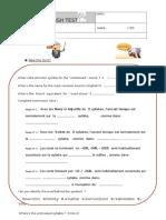 Test Phonetics Word Stress Schwa