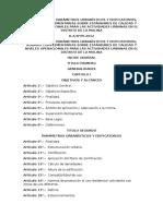 Reglamento de Parametros Urbanisticos y Edificatorios