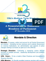 The URA Medium Term Strategy
