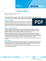 Desalination of Bore Water