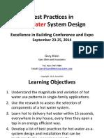 Klein Best Practices in Hot Water System Design