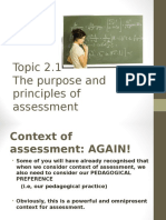 1 Purpose of Assessment