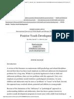 _Positive Youth Development_ by Shek, Daniel T. L.; Merrick, Joav - International Journal of Child Health and Human Development, Vol