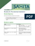 Module 24 SAHITA Electrical Installation