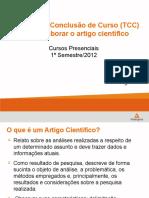 Como Elaborar o Artigo Cientifico_2012 - Presenciais