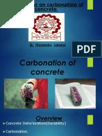 Carbonation of Concrete