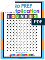 Multiplication Squares Game R