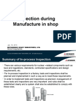 2. Inspection During Manufacture in Shop