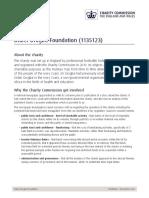 Rapport de la Commission des œuvres de charité du Royaume-Uni sur la fondation Didier Drogba