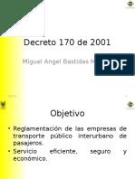 Decreto 170 de 2001