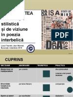Doversitatea Tematica, Stilistica Si de Viziune in Poezia Interbalica
