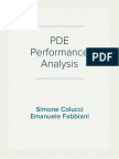 PDE - Performance Analysis