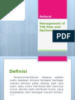 Management of TMJ Pain