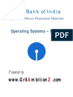 SBI Specialist Officers - Operating Systems