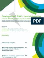 Sondage d'Harris Interactive suite à la non candidature de François Hollande