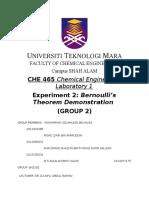 lab report Bernoulli Theorem Demonstration (full report)