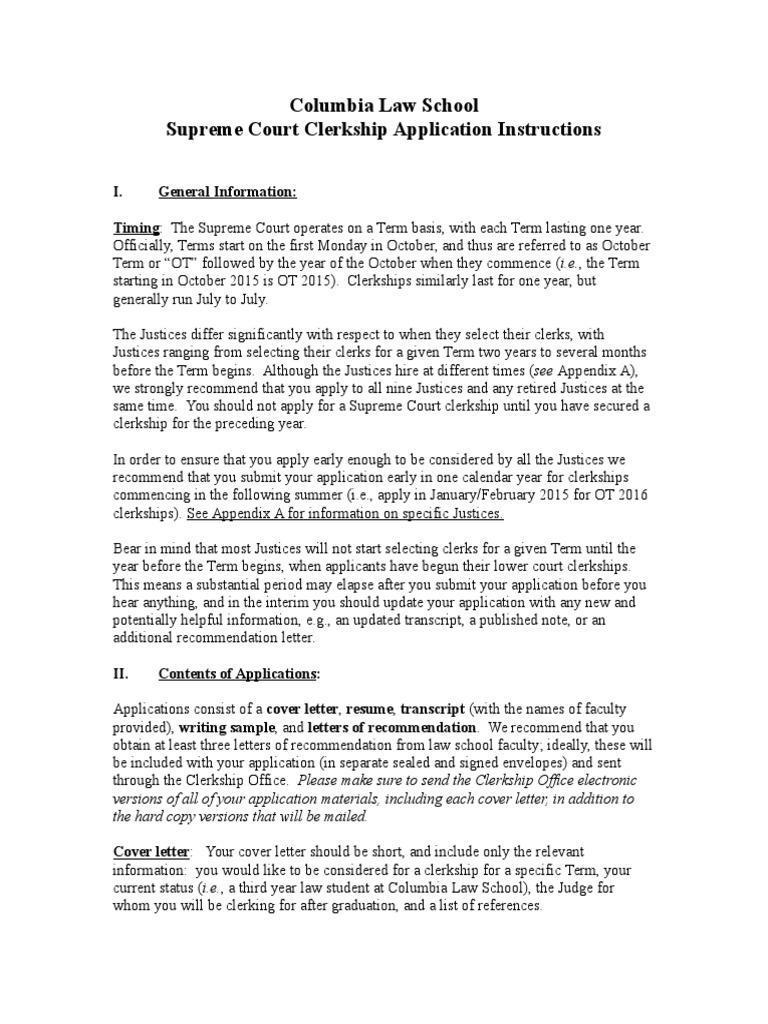 Cover Letter For Court Clerk Gallery - Cover Letter Sample