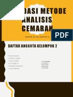 Validasi Metode Analisis Cemaran