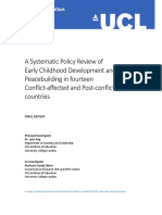 A Systematic Policy Review of Early Childhood Development & Peacebuilding in 14 Conflict Affected & Post Conflict Countries