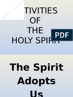 Activities of the Holy Spirit