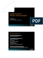 Design Event for Natural Terrain Hazards