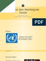 Integrasi Dan Reintegrasi Sosial