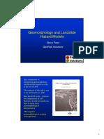 Geomorphology and Landslide Hazard Models