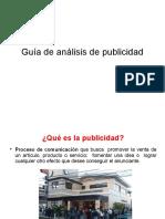 Guía análisis publicidad