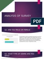 analysis of survey