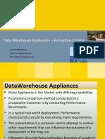 DW Appliance - Evaluation Criteria