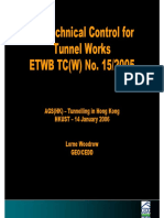 Geotechnical Control for Tunnel Works ETWB TC(W) No. 152005