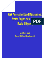 Risk Assessment and Management for Eagles Nest Tunnel