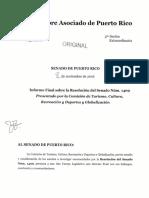 Informe Final de la Resolución del Senado Núm. 1409