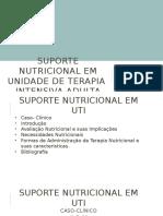 Suporte Nutricional Em Unidade de Terapia Intensiva Adulta