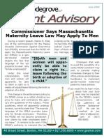 Maternity Leave Advisory