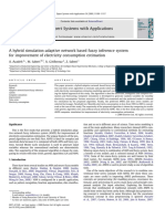 A Hybrid Simulation-Adaptive Network Based Fuzzy Inference System for Improvement of Electricity Consumption Estimation (2009)