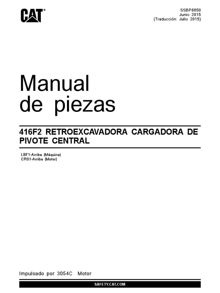 Manual de Partes Retro CAT 416F2 SBP6850