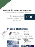 Revisión en Artritis Reumatoidea JAG