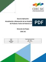 Guía de Aplicación Actualización y Mantención de Las Estadísticas de Calidad de Producto1