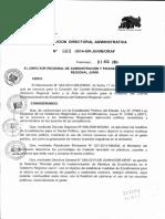 RESOLUCION DIRECTORAL ADMINISTRATIVA N°608-2014-GRJ ORAF