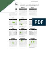 Calendario Laboral Guadalajara 2017