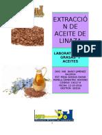 Extraccion de Aceite de Linaza