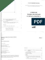 BASTOS. Curso de Teoria Do Estado e Ciência Política CpI - Introdução a TGE