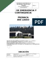 FORMATO PLAN DE EMERGENCIA Y CONTINGENCIA 2015.doc
