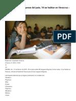 De 68 lenguas indígenas del país, 14 se hablan en Veracruz.pdf