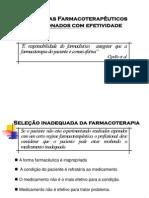 Problemas Farmacoterapêuticos Relacionados Com Efetividade - Assistência Farmacêutica - Patrícia Sodré Araújo - UNIME