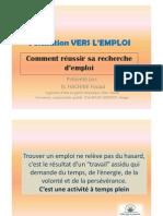 Presentation 2 Reussir Recherche Emploi