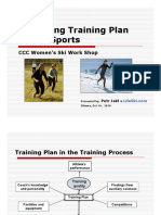 Designing Training Plan for All Sports