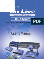 AirLive WL-5470AP Manual