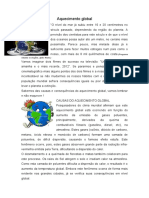 Aquecimento Global Texto Completo